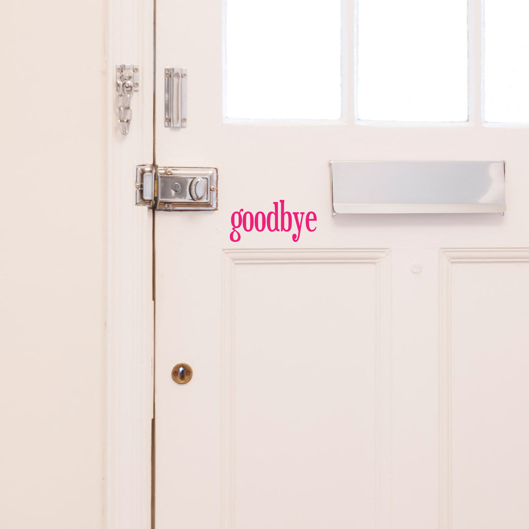 hello and goodbye front door sticker set