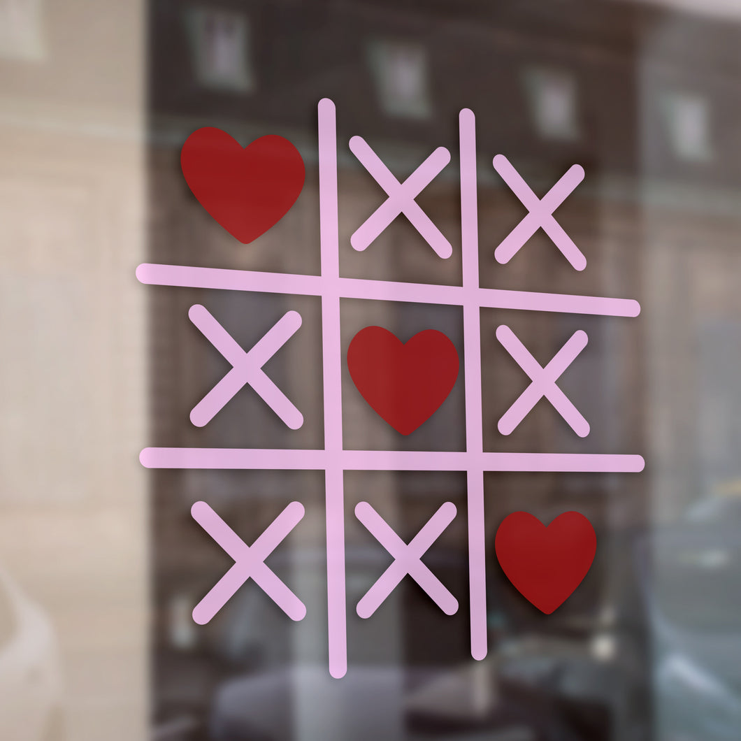 Hearts and Crosses Valentine Retail Vinyl