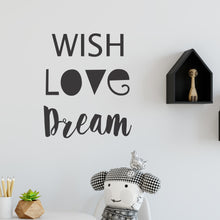 Wish Love Dream Wall Sticker