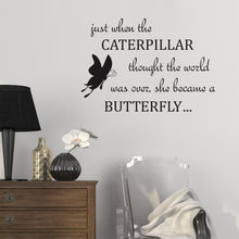 Wall Sticker Butterfly Quote