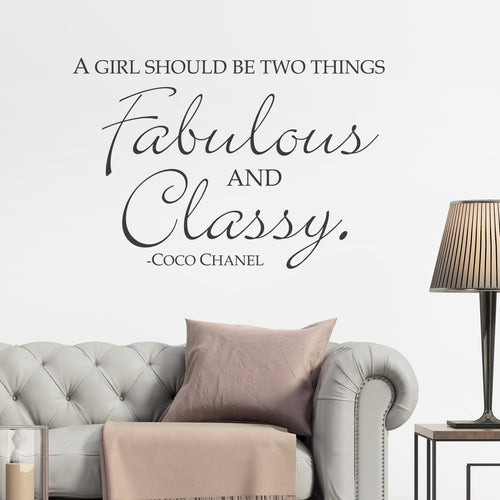Fabulous and Classy Wall Sticker