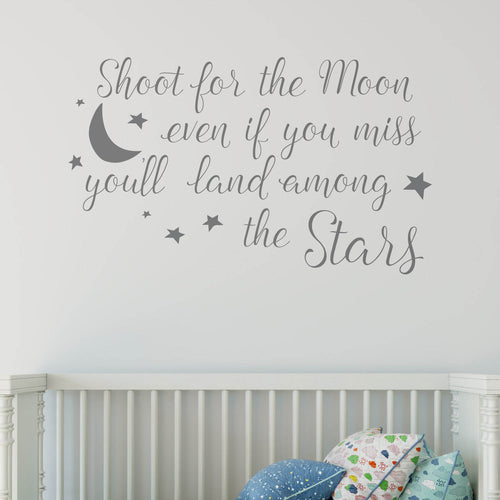 Shoot for the wall sticker quote