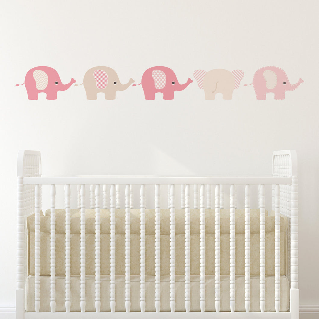 Pink Elephants Decals Wall Stickers