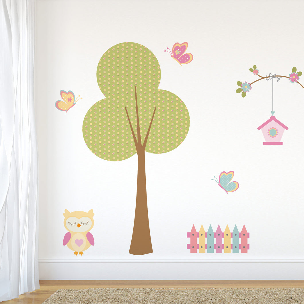Owl and tree wall Sticker Wall Stickers