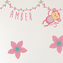Additional Pink Jungle Animal Wall Stickers