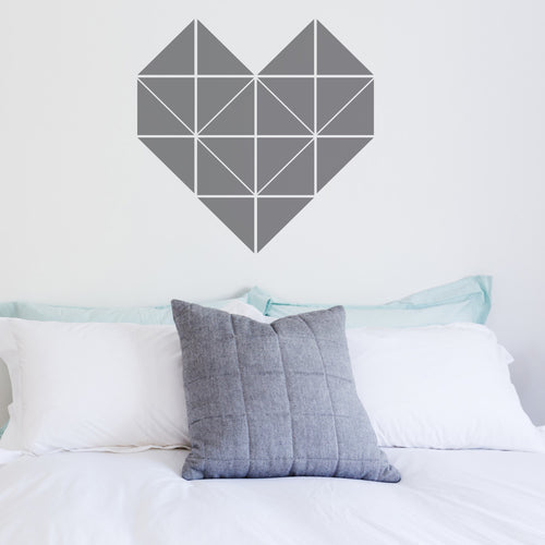 Wall Sticker Geometric Heart