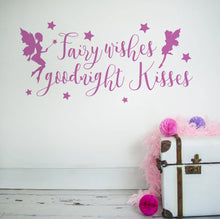 Fairy wishes and goodnight kisses wall sticker