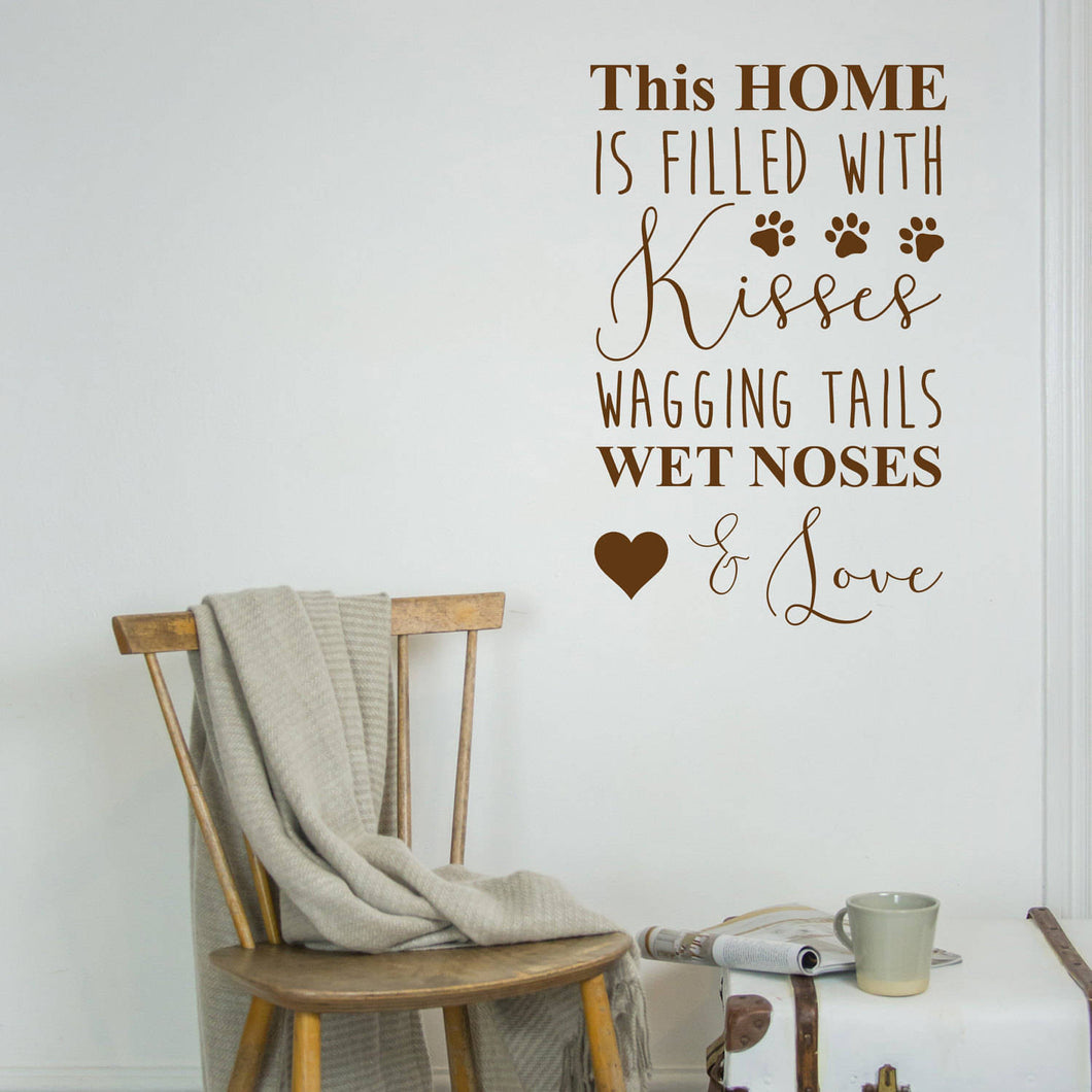 This home is filled with kisses wall sticker