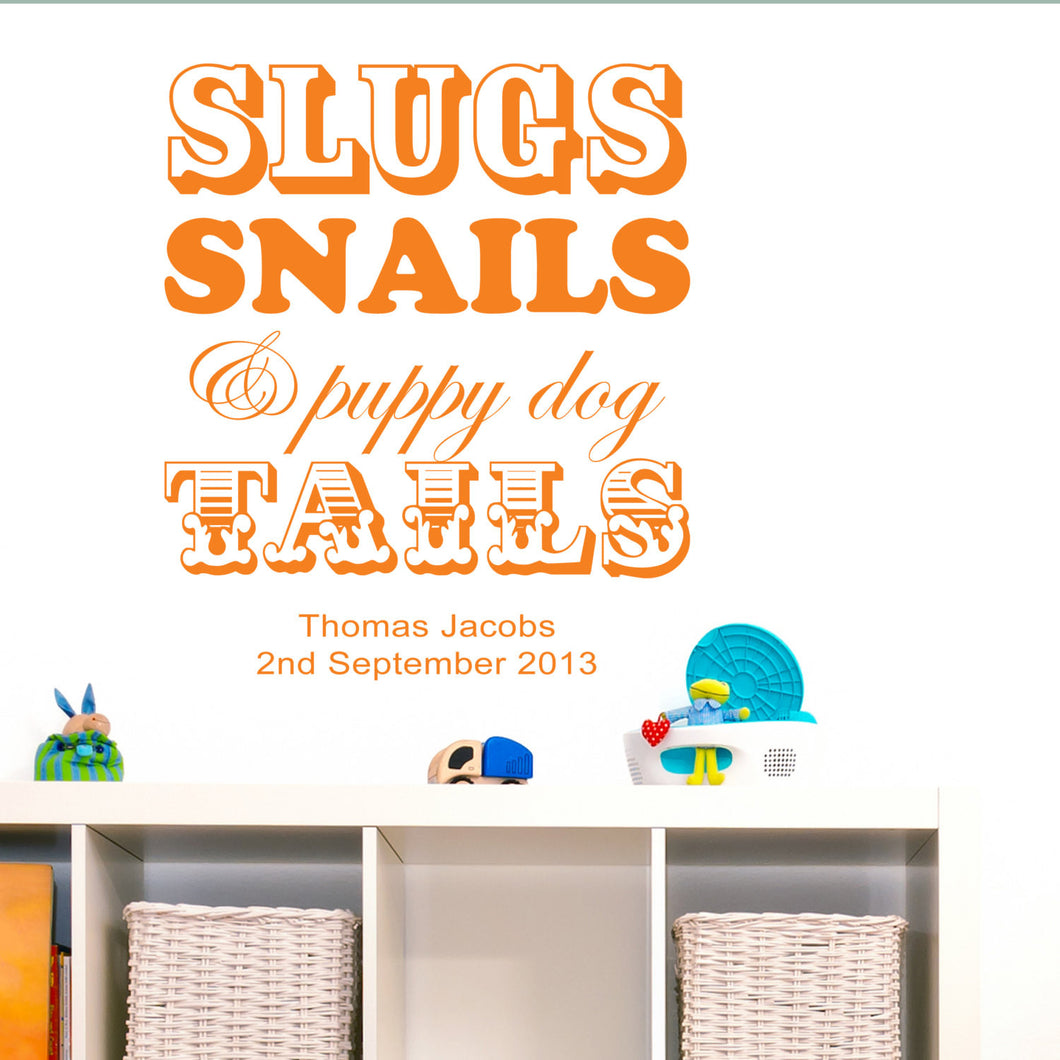 Wall Sticker, Slugs and Snails