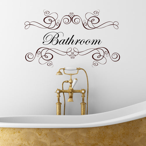 Bathroom Wall Sticker Quote
