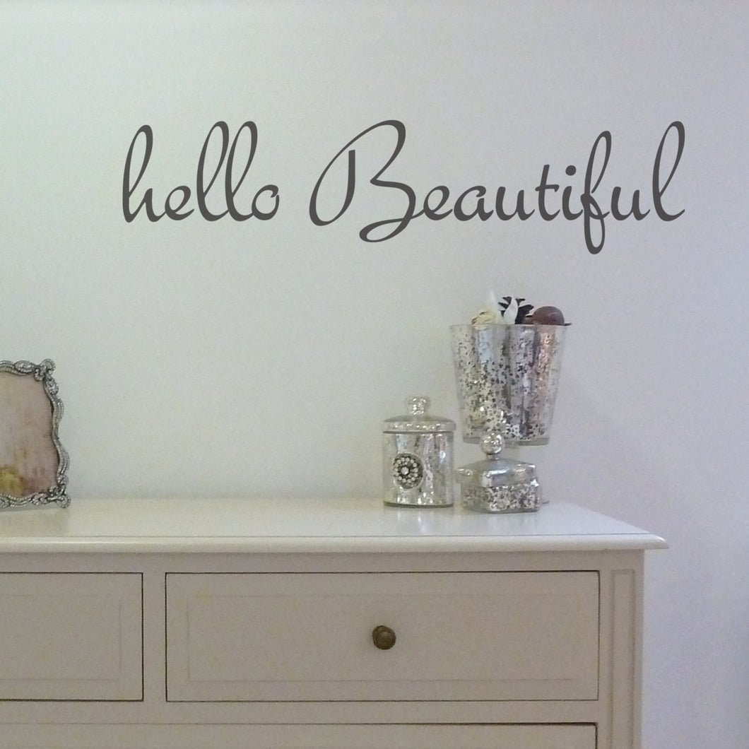 Wall Sticker Hello Beautiful