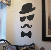 Moustache, Glasses and bow tie Wall Sticker