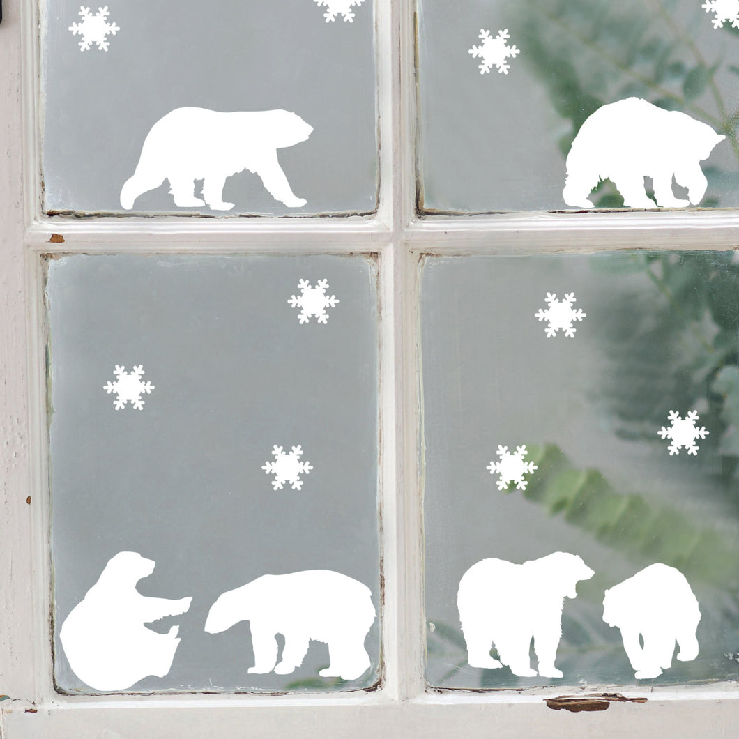 Polar Bears Window or Wall Stickers