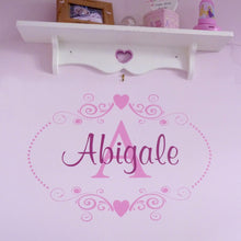 Monogram Heart Personalised Wall Sticker
