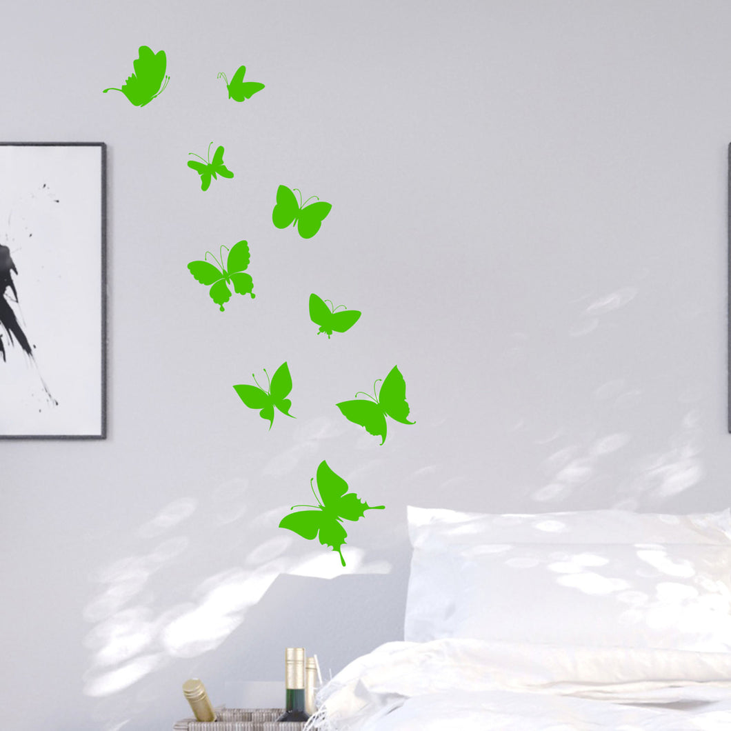 Wall Stickers Neon butterflies