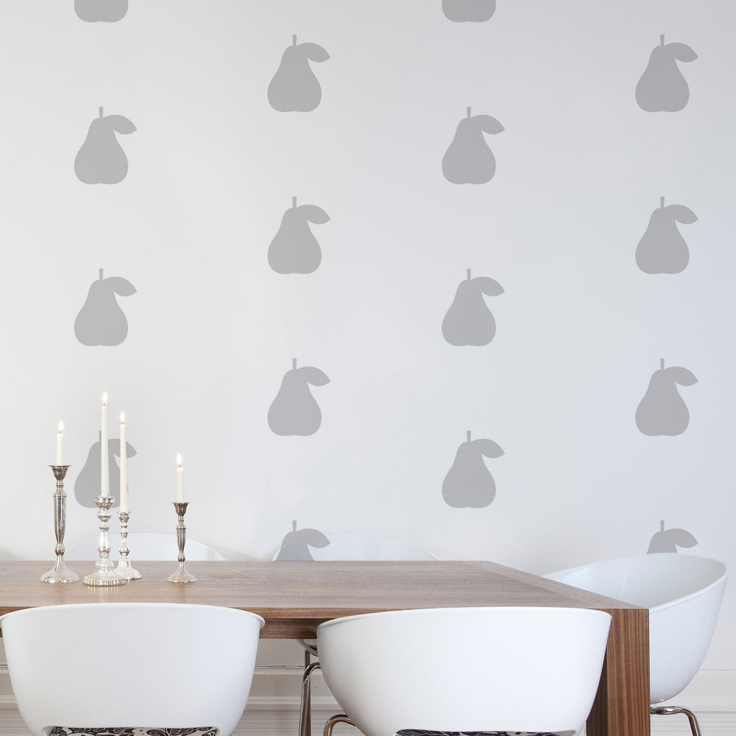 SALE - Pear wall stickers - GOLD