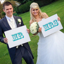 Mr and Mrs Wedding Sign Props