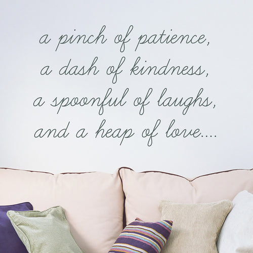 Wall Sticker, Pinch of patience quote