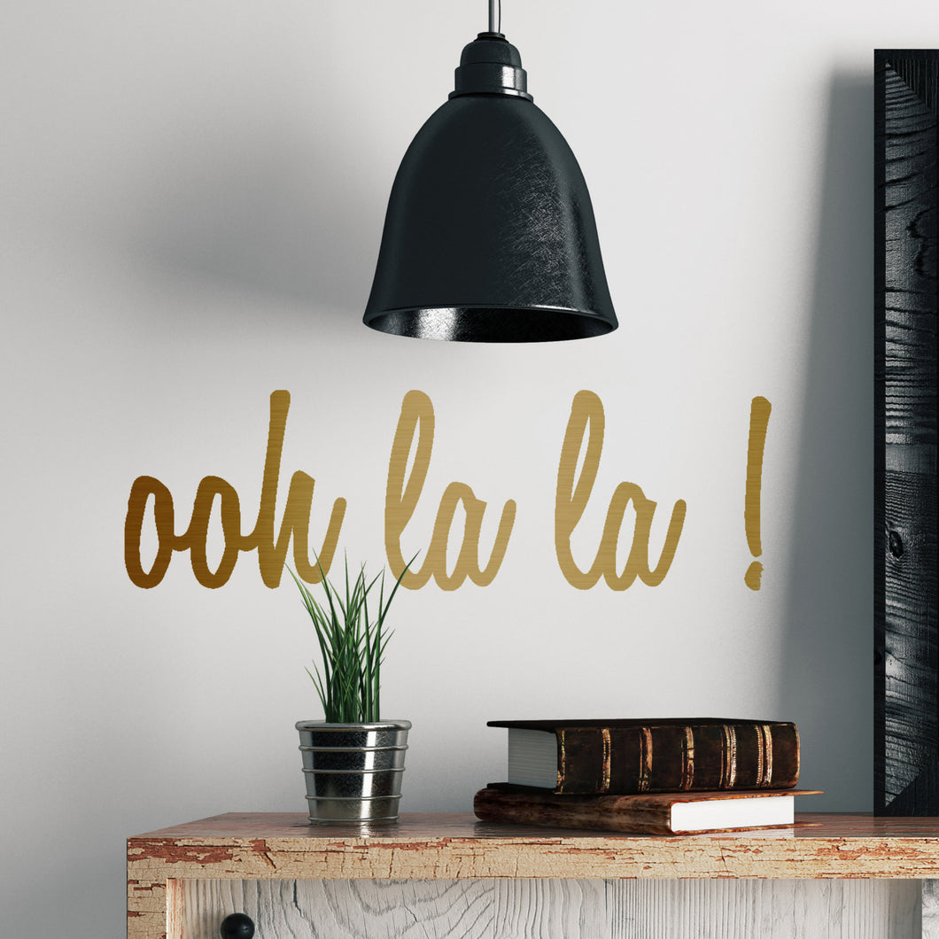 ooh la la ! metal effect wall sticker