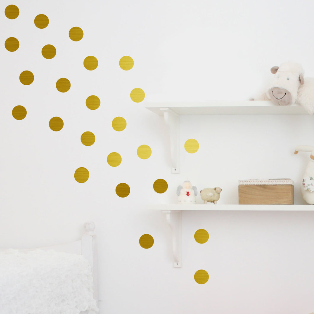 Metal Effect Confetti Dots Wall Stickers
