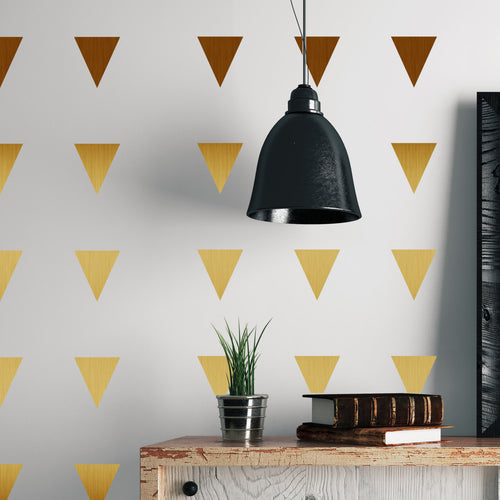 Metal Effect Confetti Triangles Wall Stickers