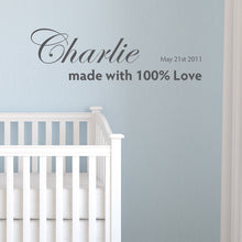Wall Sticker Made With Love