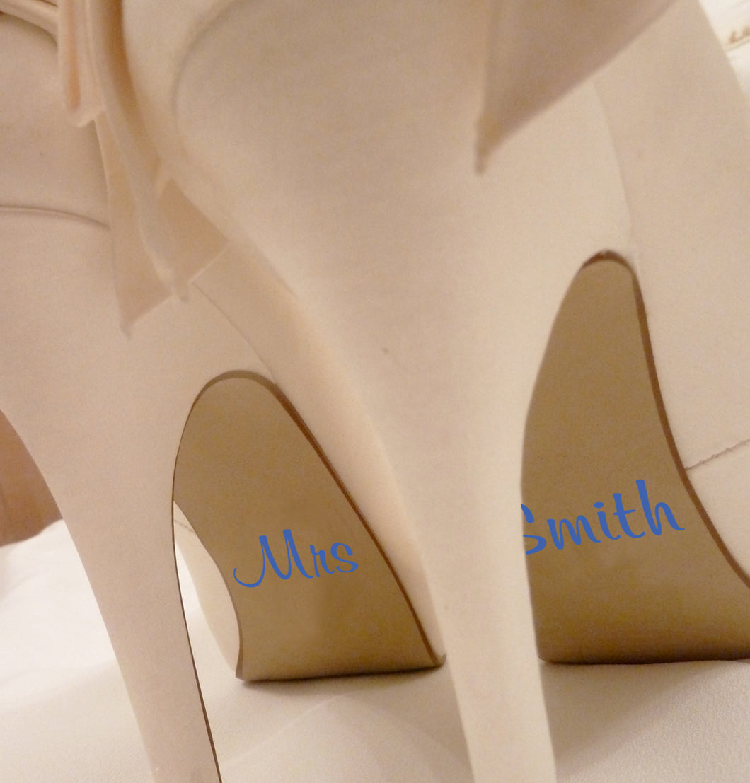 Personalised Wedding Shoe Stickers
