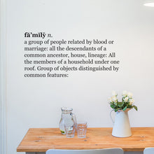 Family Dictionary Wall Quote
