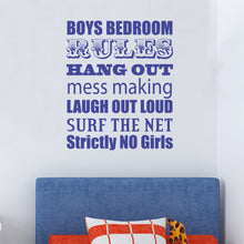 Boys Bedroom Rules Wall Sticker