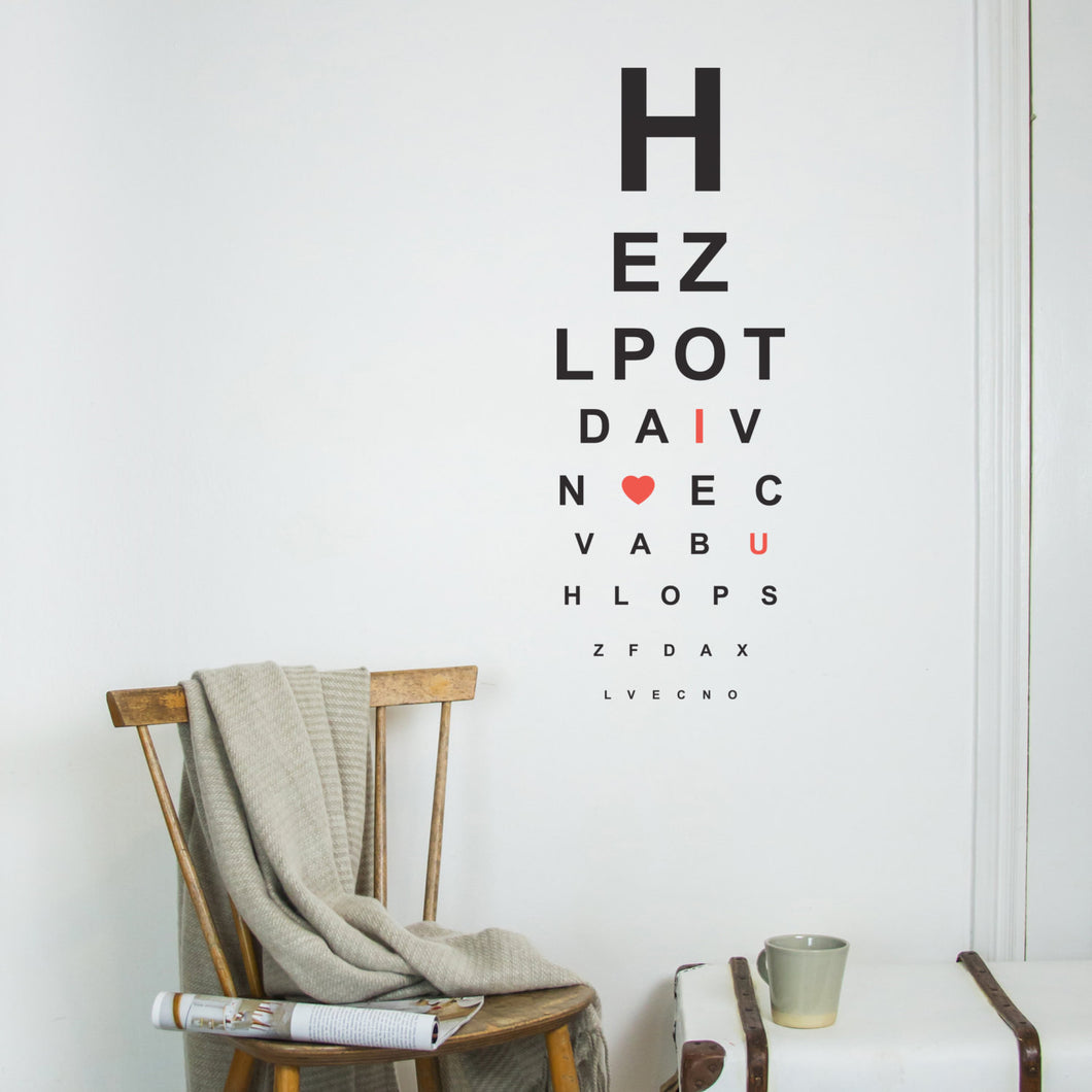 Wall Sticker Eye Test