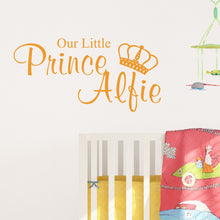 Personalised Our Little Prince Wall Sticker