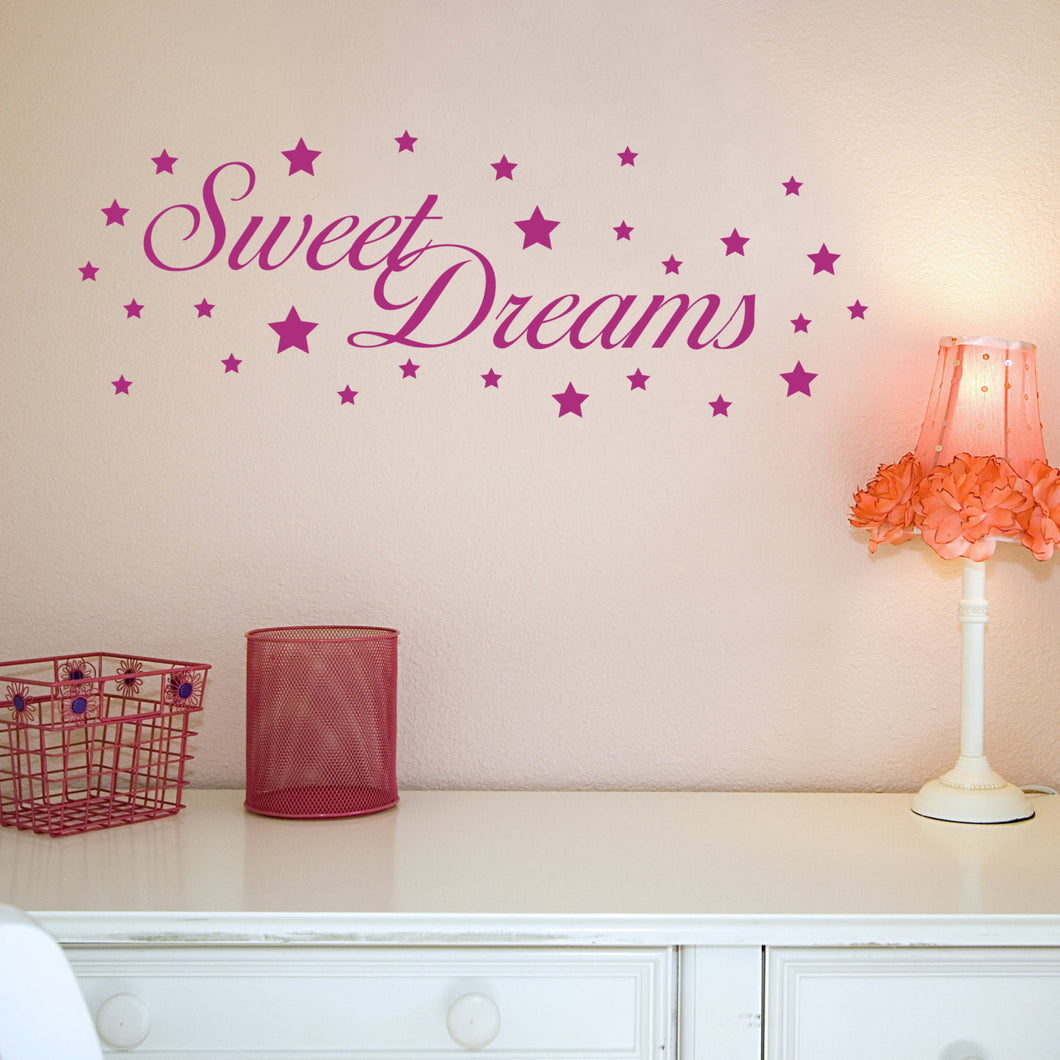 SALE - Sweet Dreams Wall Sticker - Lilac