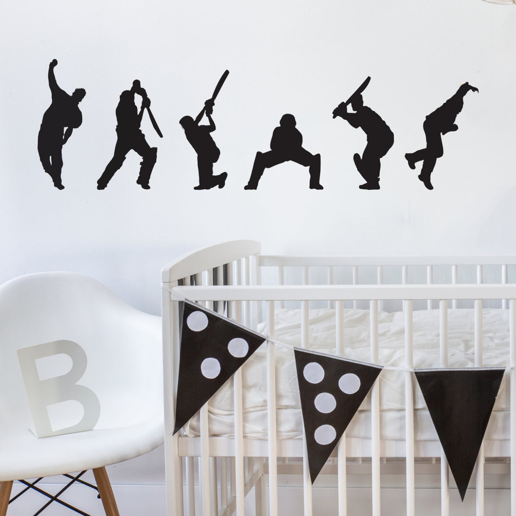 Wall Sticker Cricketers