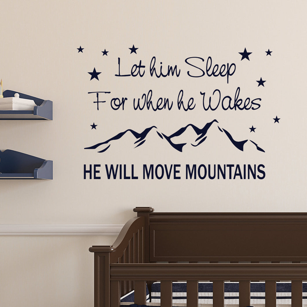 Wall Sticker He will move mountains