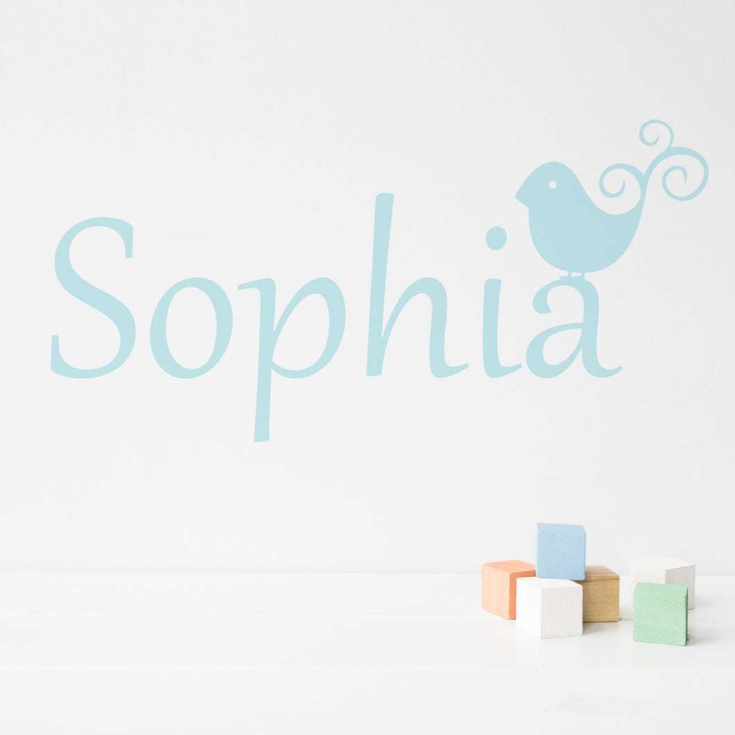 Birdie Personalised Wall Sticker
