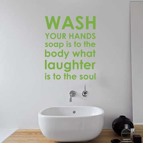 Wall Sticker Bathroom Rules