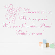 Wall Sticker Quote Guardian Angel