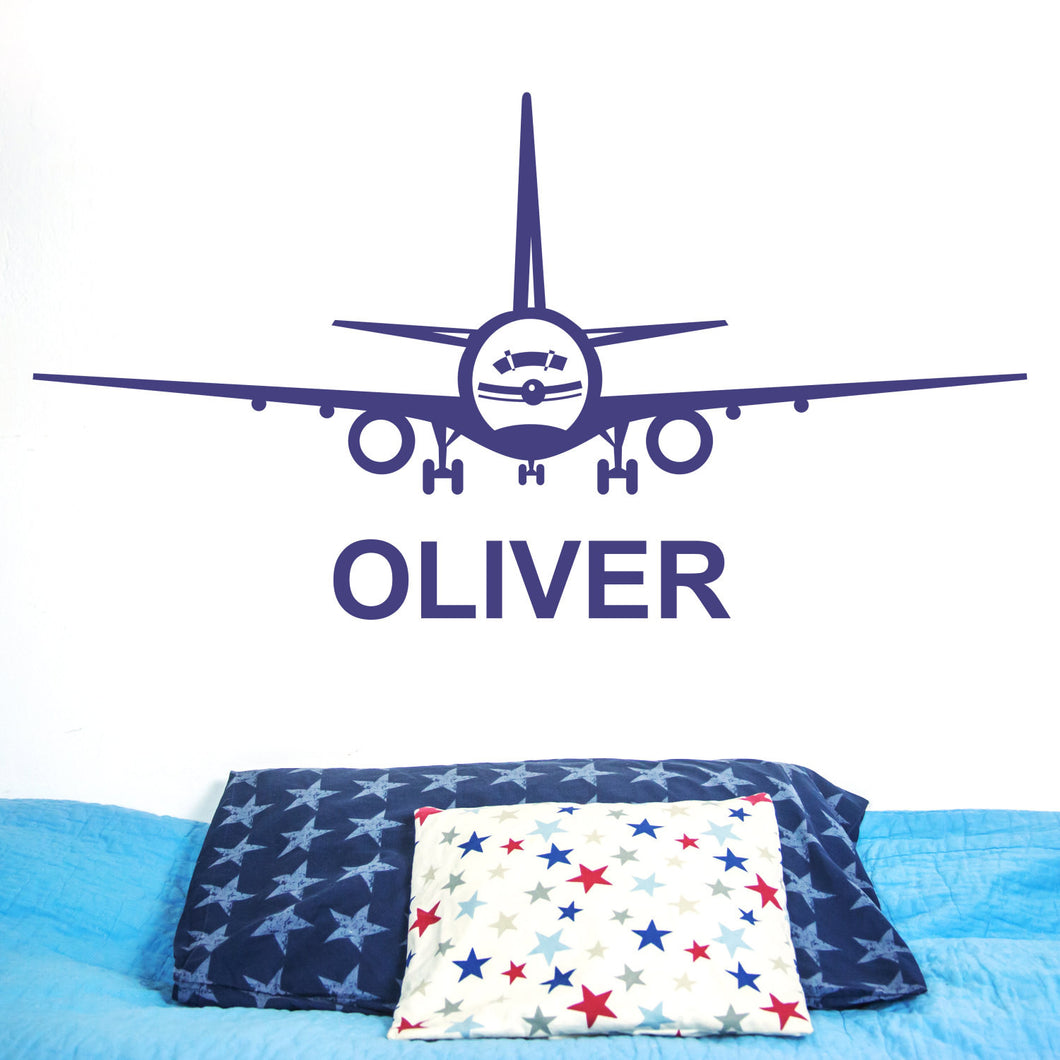 Wall Sticker Personalised Plane
