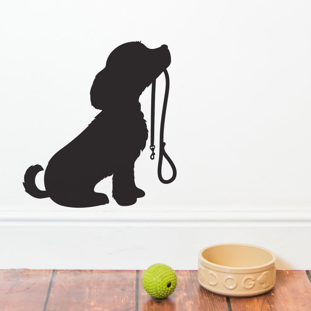 Puppy with Lead Wall Sticker