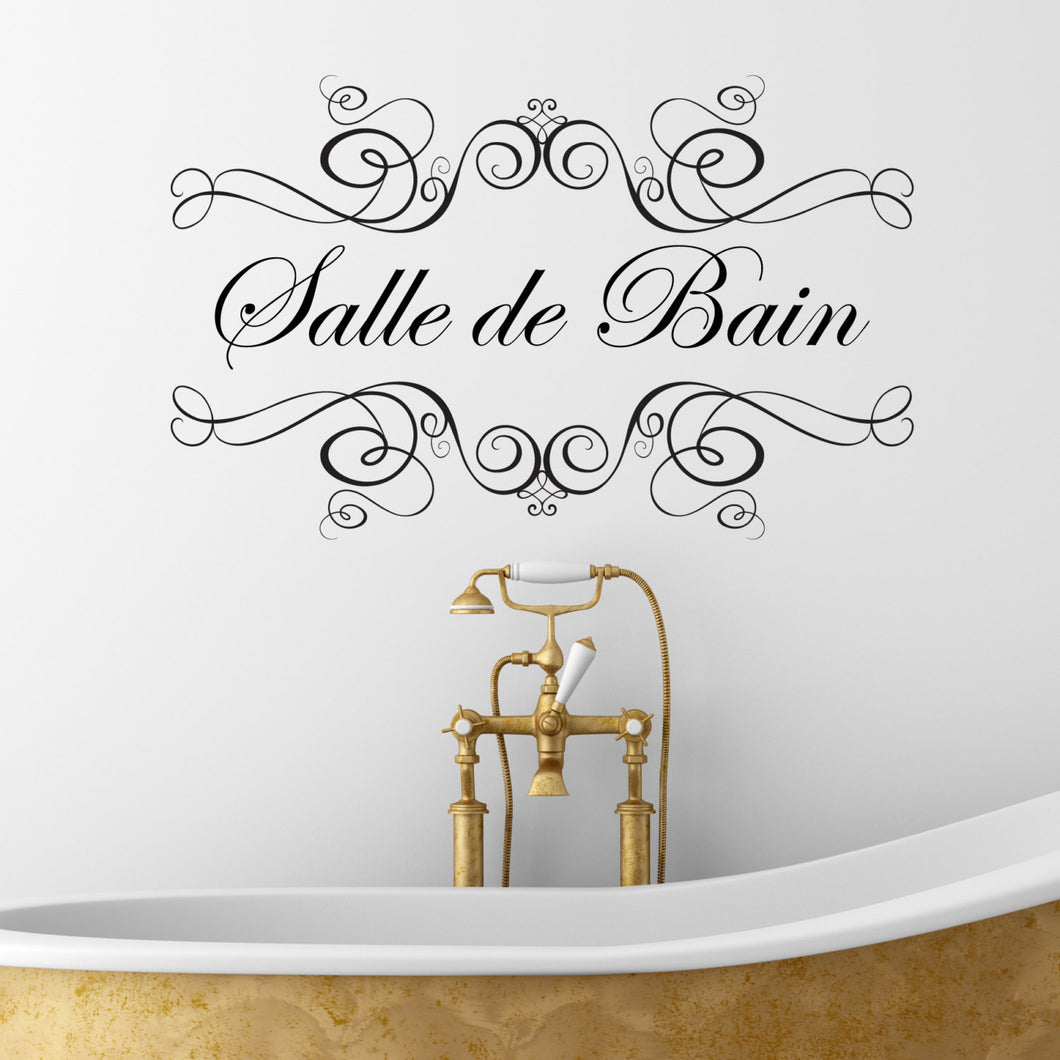 Wall Sticker Quote Salle de Bain