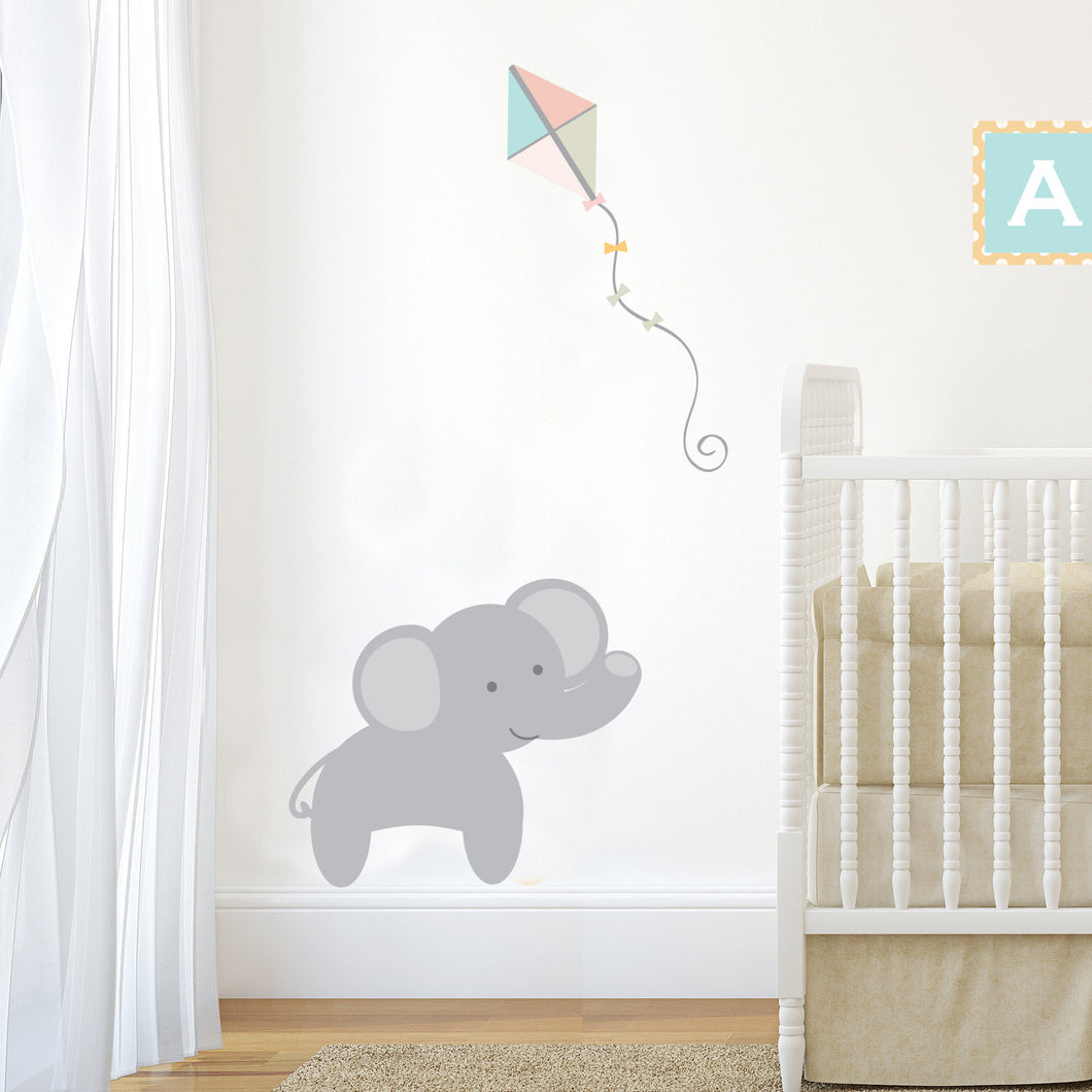 Wall Sticker Jungle Train Elephant