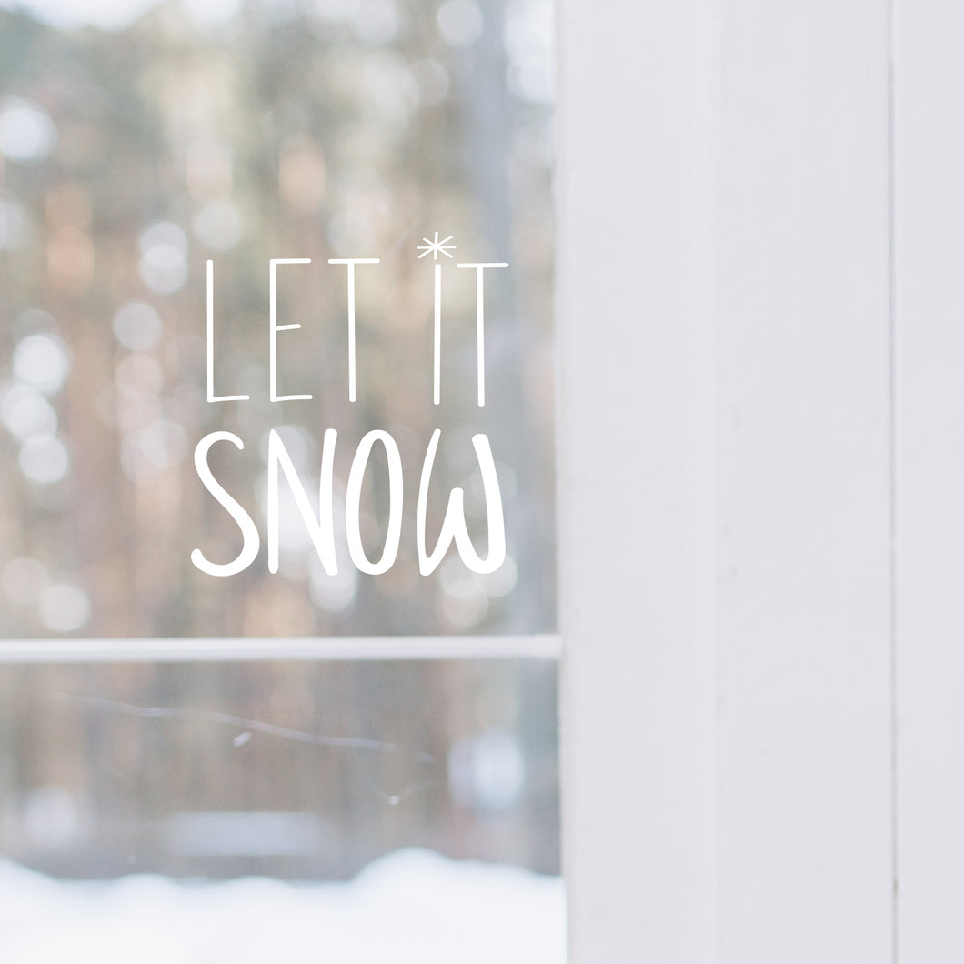 Let it Snow Wall or Window Sticker