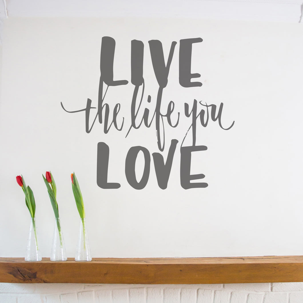 Ellen Waldren 'Live the life you love' Wall Sticker