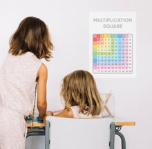 Multiplication Square Homeschool A3 Poster