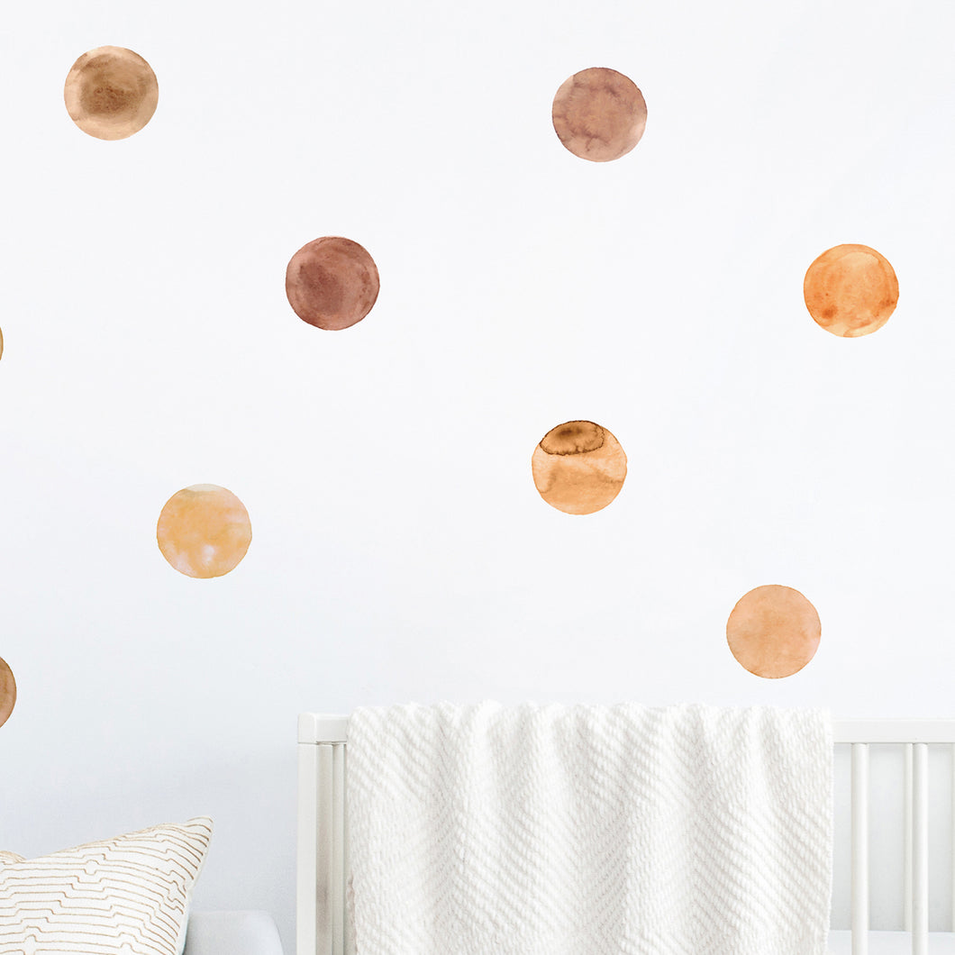 Neutral Watercolour Dot Wall Stickers