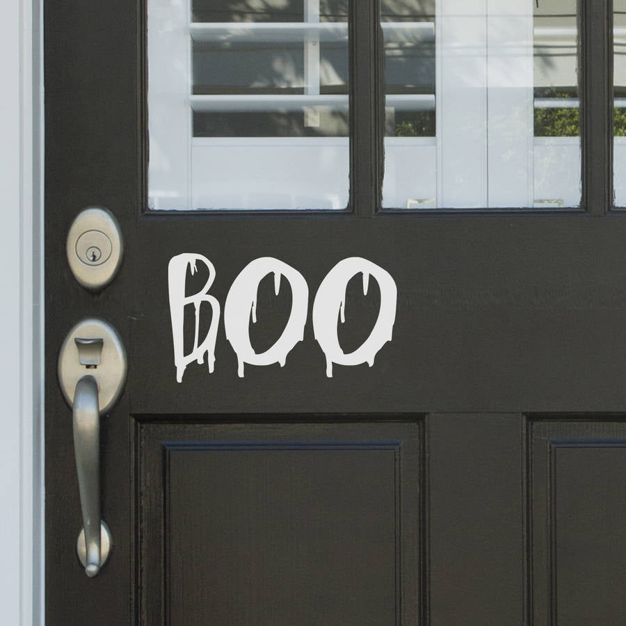 Boo Vinyl Door Sticker