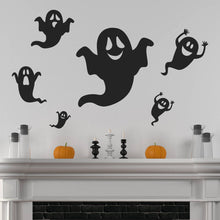 Set of six Ghost Wall Stickers