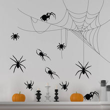 Halloween Spiders and Cobwebs Wall sticker