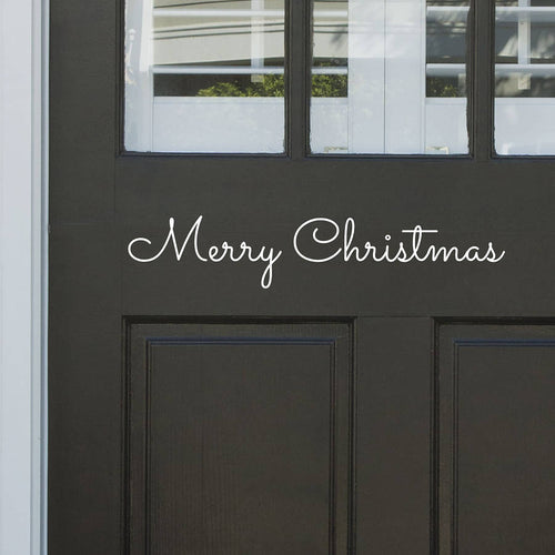 Merry Christmas Front Door Sticker