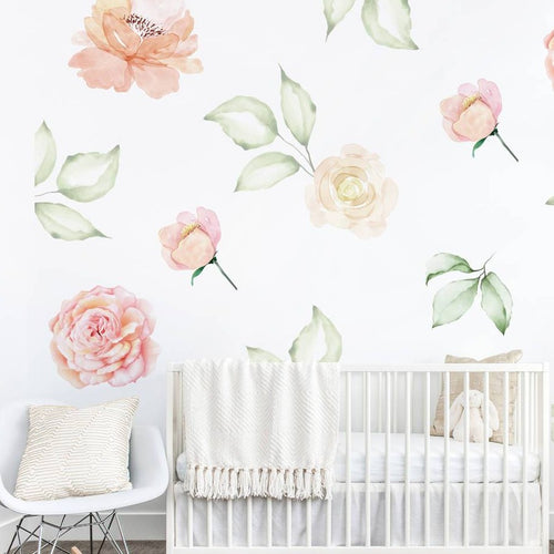 Roses And Romance Floral Wall Sticker Mural